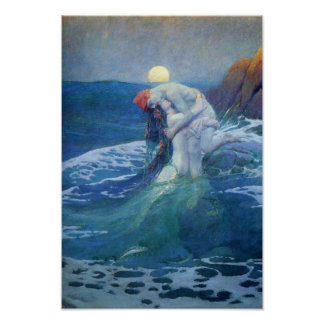 The Mermaid by Howard Pyle, 1919. Poster