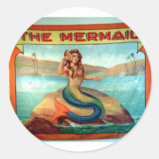 the mermaid classic round sticker