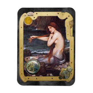 The Mermaid Steampunk - Rectangle Magnet