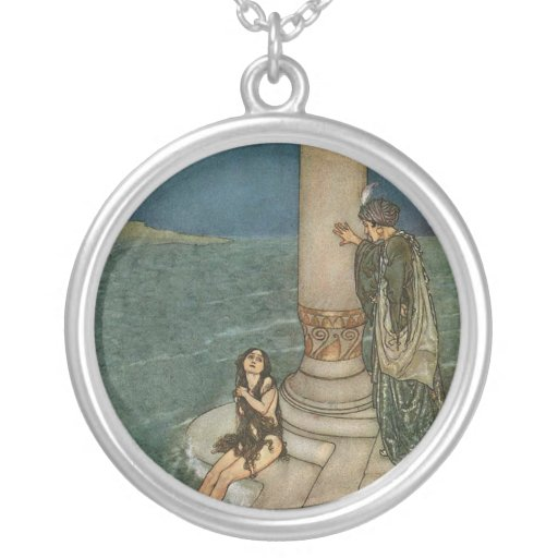 The Mermaid & The Prince Custom Necklace