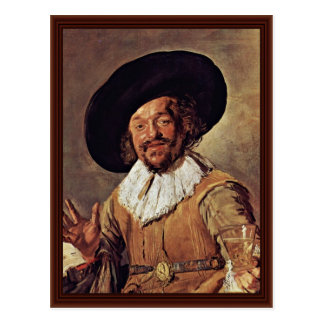 The Merry Drinker. By Frans Hals Postcard