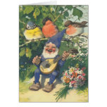 The Merry Musical Gnome Greeting Card