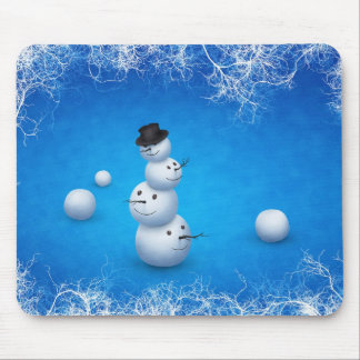 The Merry Snowman Mouse Pads