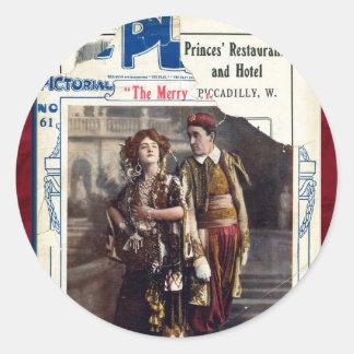 The Merry Widow Round Sticker