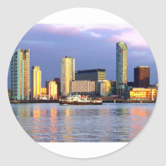 The Mersey Ferry & LIverpool Waterfront Classic Round Sticker