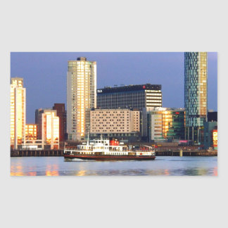 The Mersey Ferry & LIverpool Waterfront Rectangular Sticker