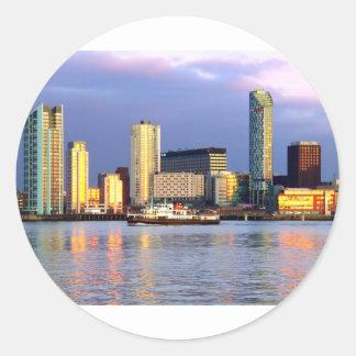 The Mersey Ferry & LIverpool Waterfront Round Sticker