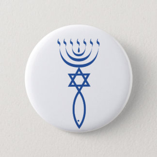 The Messianic Jewish Seal of Jerusalem 6 Cm Round Badge