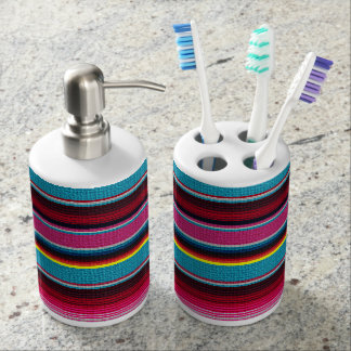 The Mexican Blanket Bathroom Set