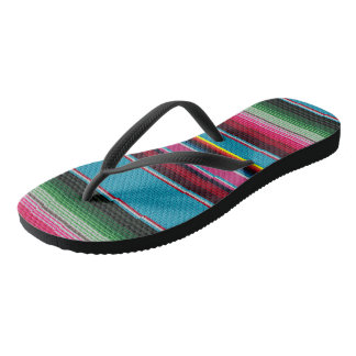 The Mexican Blanket Flip Flops