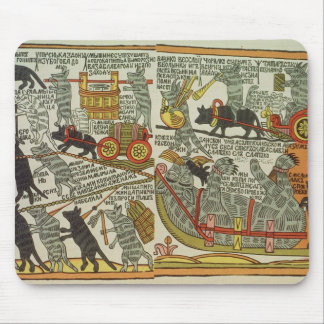 The Mice Bury the Cat, Russian, late 18th century Mouse Mat