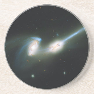 The Mice Galaxies NGC 4676 Colliding and Merging Sandstone Coaster