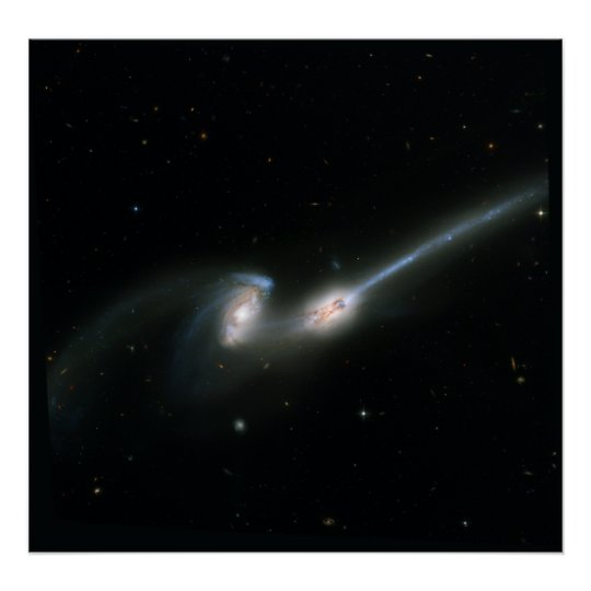 The Mice (NGC 4676)- Colliding Galaxies Poster