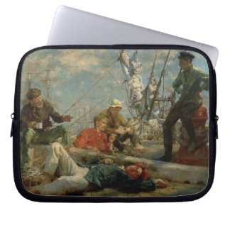 The Midday Rest (Sailors Yarning), 1906 (oil on ca Laptop Sleeve