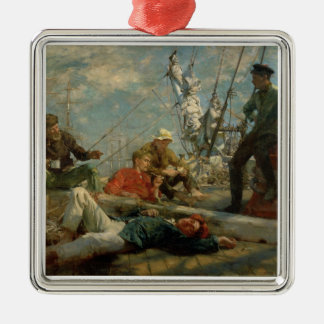 The Midday Rest (Sailors Yarning), 1906 (oil on ca Silver-Colored Square Decoration