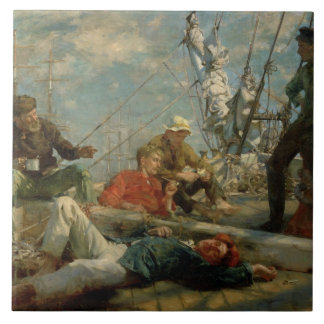 The Midday Rest (Sailors Yarning), 1906 (oil on ca Tile