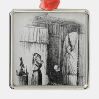 The Middle-Aged Lady in the Double-Bedded Room Christmas Ornament