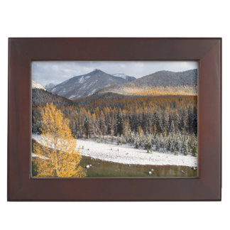 The Middle Fork Of The Flathead River Keepsake Box