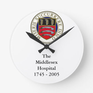 The Middlesex Hospital Clock with wording