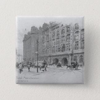 The Midland Hotel, Manchester, c.1910 15 Cm Square Badge