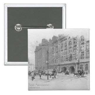 The Midland Hotel, Manchester, c.1910 15 Cm Square Badge