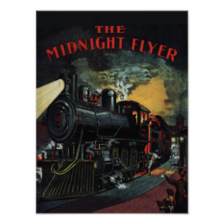 The Midnight Flyer Train Poster/Print Poster