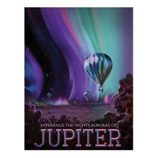 The Mighty Auras of Jupiter Travel Advertisement Postcard