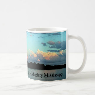 The Mighty Mississippi River Sunset Coffee Mug