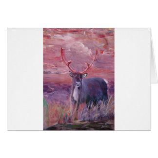 The Mighty Moose Mongoose Reindeer Elk Rentier Car Greeting Card