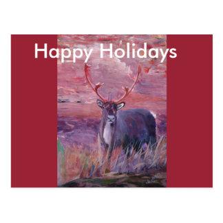 The Mighty Moose Mongoose Reindeer Elk Rentier Car Postcard