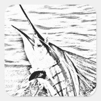 the mighty sailfish square sticker
