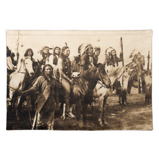 The Mighty Sioux Vintage Native American Warriors Placemat