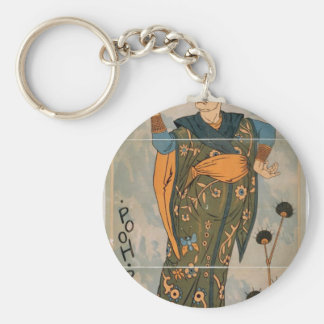 The Mikado, 'Pooh bah' Vintage Theater Basic Round Button Key Ring