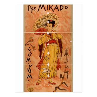 The MIKADO yum yum Retro Theater Post Cards