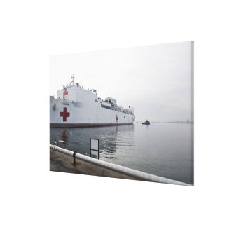 The Military Sealift Command hospital ship Canvas Print