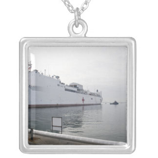The Military Sealift Command hospital ship Silver Plated Necklace