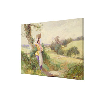 The Milkmaid, 1860 Stretched Canvas Print