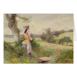 The Milkmaid, 1860 Card