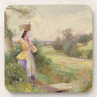 The Milkmaid, 1860 Drink Coasters