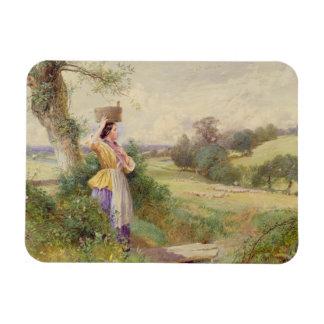 The Milkmaid, 1860 Rectangular Photo Magnet