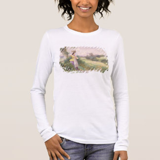The Milkmaid, 1860 (w/c on paper) Long Sleeve T-Shirt