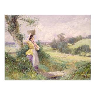 The Milkmaid, 1860 (w/c on paper) Postcard