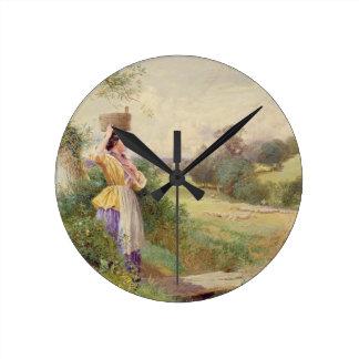 The Milkmaid, 1860 Wall Clock