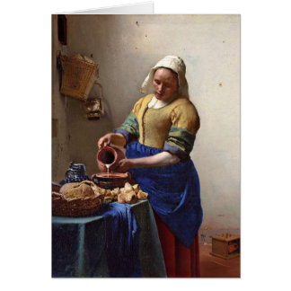 The Milkmaid. By Johannes Vermeer Card