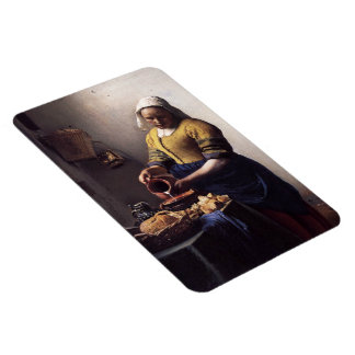 The Milkmaid by Johannes Vermeer Rectangular Photo Magnet