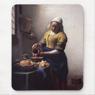 The Milkmaid by Johannes Vermeer Mouse Mat