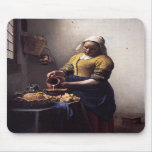 The Milkmaid by Johannes Vermeer Mouse Pads