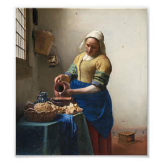 The Milkmaid by Johannes Vermeer Photograph
