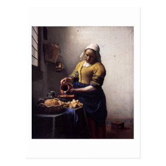 The Milkmaid by Johannes Vermeer Postcard