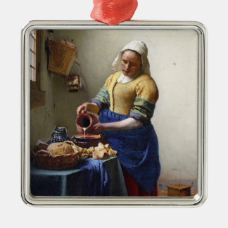 The Milkmaid, c.1658-60 (oil on canvas) Christmas Ornament
